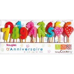 15 bougies d'anniversaire chiffres - Scrapcooking