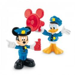 Figurines Mickey et Donald policier