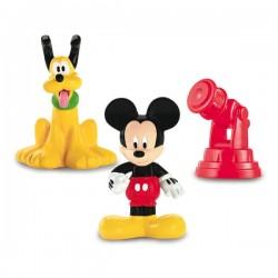Figurines Mickey et Pluto avec télescope