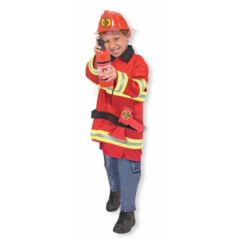 déguisement pompier enfant avec accessoires 3-6 ans