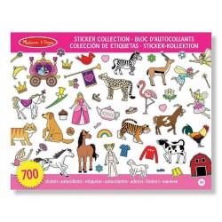 700 Autocollants - Fées, princesses, animaux