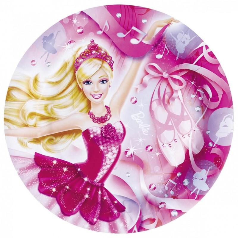 8 Assiettes Carton Barbie Decoration Anniversaire