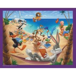Puzzle 45 pièces Looney Tunes - A la plage