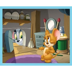 Puzzle 60 pièces Tom et Jerry colocataires