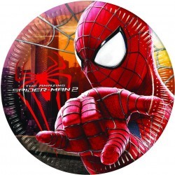 8 Assiettes carton Spiderman