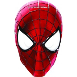 6 Masques en carton Spiderman