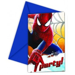 6 Invitations Anniversaire Spiderman