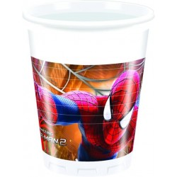 8 Gobelets plastique Spiderman