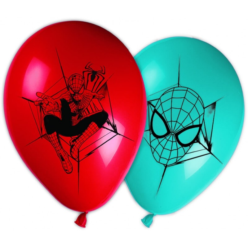 8 Ballons Spiderman en latex