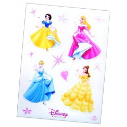 4 planches de Stickers des Princesses Disney