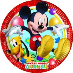 8 Assiettes carton Mickey