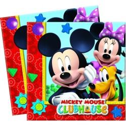 20 Serviettes en papier Mickey