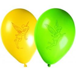 8 Ballons Fée Clochette