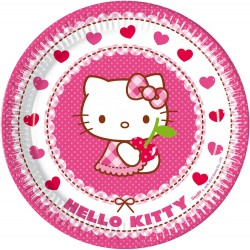 8 Assiettes en carton Hello Kitty