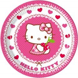 8 Assiettes en carton Hello Kitty