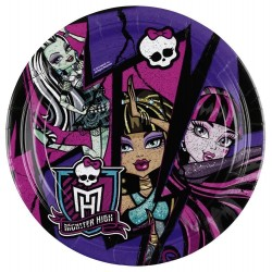 8 Assiettes carton Monster High