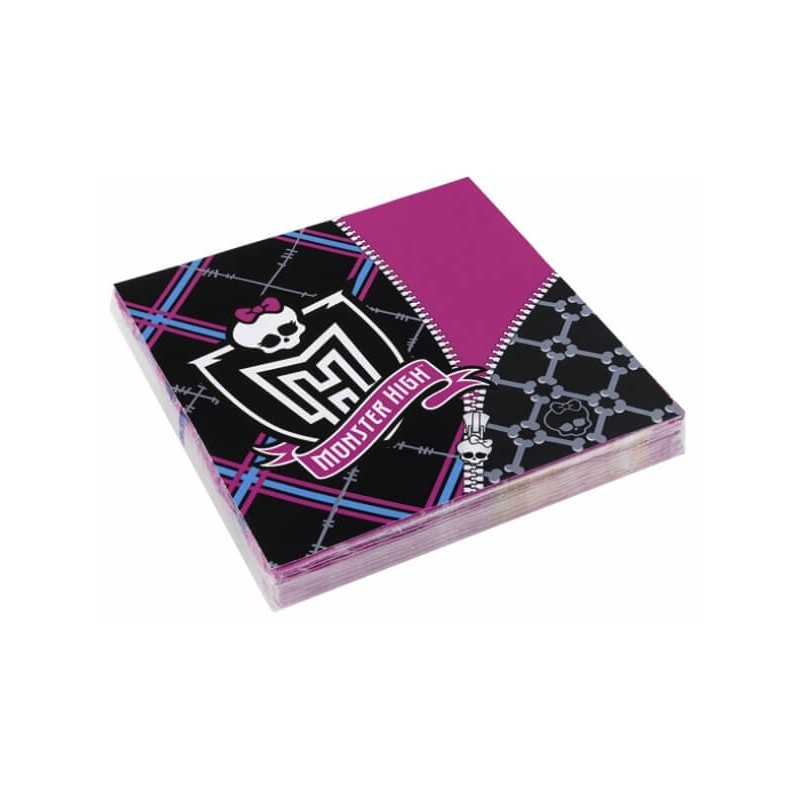 20 Serviettes en papier Monster High