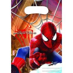 6 pochettes cadeaux Spiderman