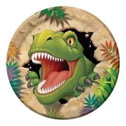 8 Assiettes en carton Jurassic World
