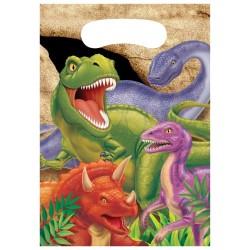 8 pochettes cadeaux Dinosaure