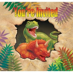 6 Invitations Anniversaire Jurassik Park