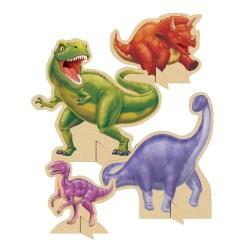 4 Centres de table Anniversaire Dinosaure