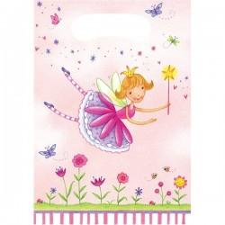 6 pochettes cadeaux Fée Princesse