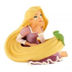 Figurine Raiponce rêveuse avec son Caméléon Pascal