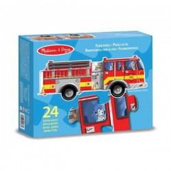 Puzzle géant camion de Pompier
