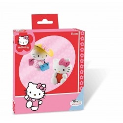 Coffret Figurines Hello Kitty Valentine et Hello Kitty Shopping
