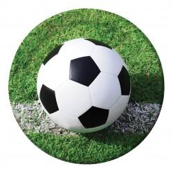 8 Assiettes en carton Football