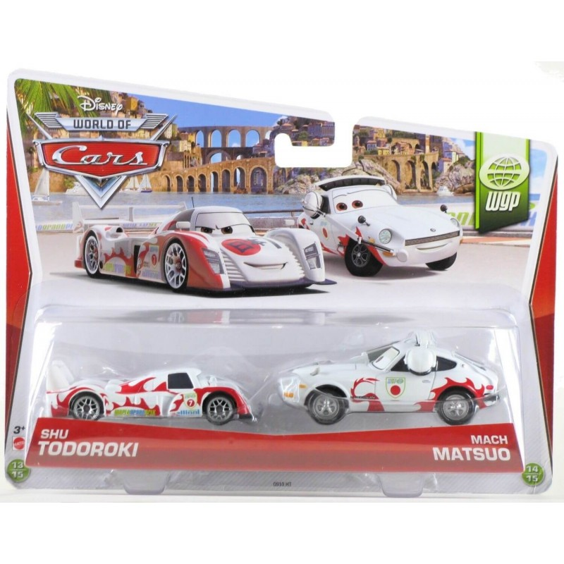 coffret 2 voitures cars shu todoroki et mach matsuo mattel. Black Bedroom Furniture Sets. Home Design Ideas