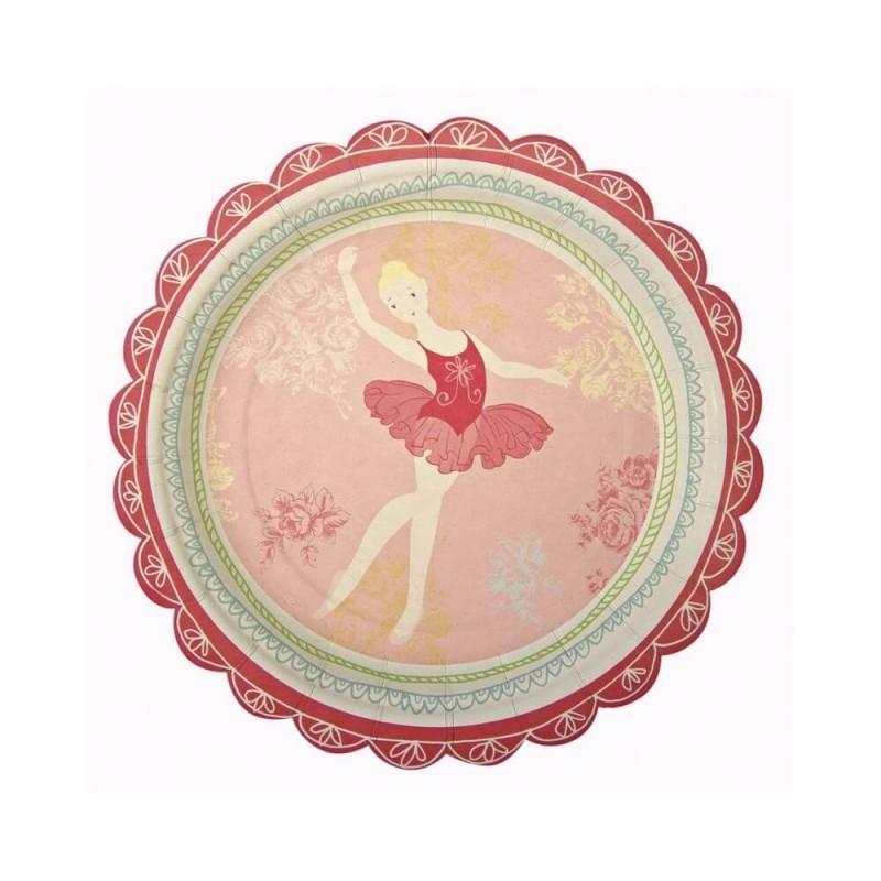 12 assiettes danseuse étoile Meri Meri