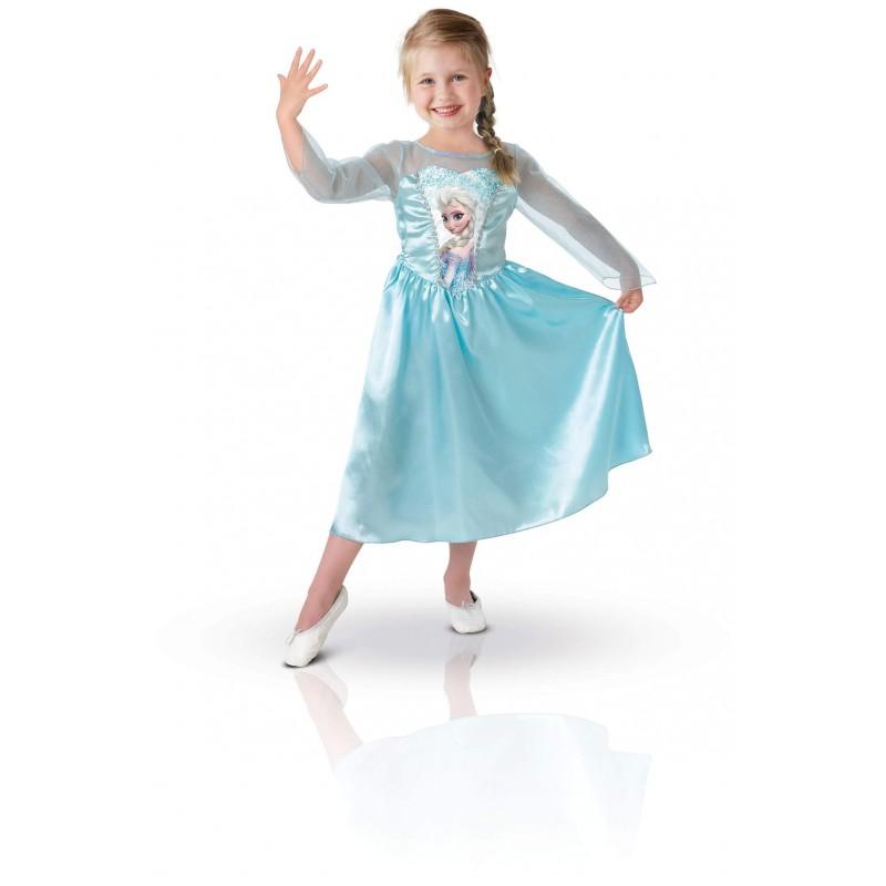 Déguisement Elsa  3-4 ans Frozen La reine des Neiges