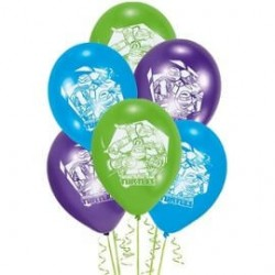 6 Ballons Tortues Ninja