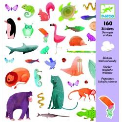 160 Stickers - Sauvages et doux - Djeco