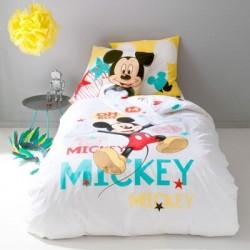 Housse de couette Mickey et Taie d'oreiller