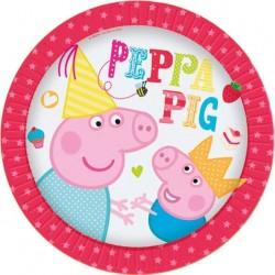 8 Assiettes en carton Peppa Pig