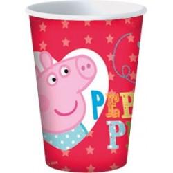 8 Gobelets carton Peppa Pig