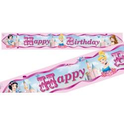 Banderole Joyeux Anniversaire Princesses Disney - 4m