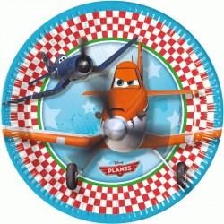 8 Assiettes carton Planes