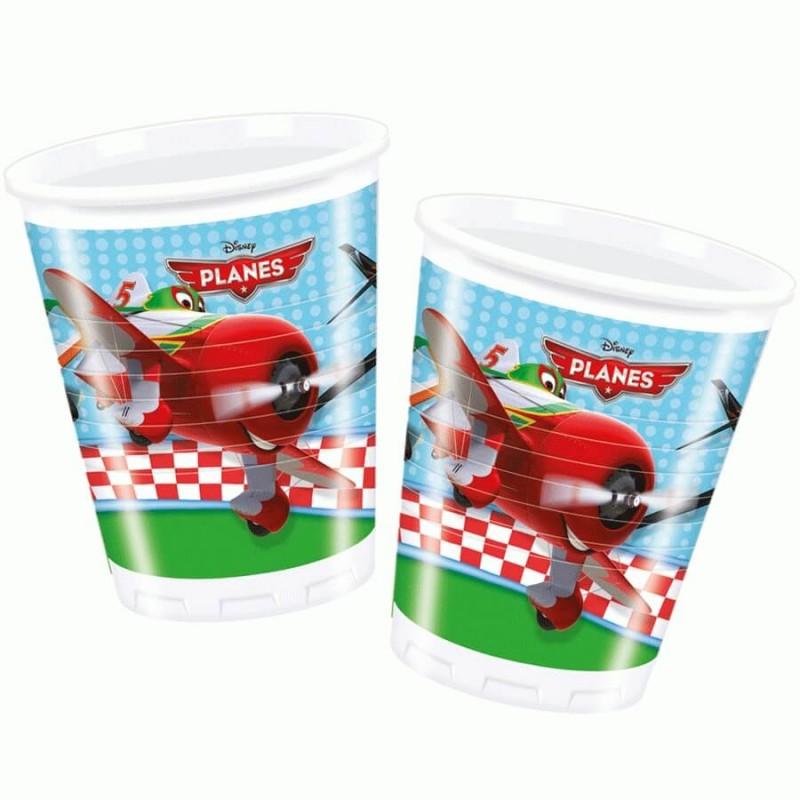8 Gobelets plastique Planes