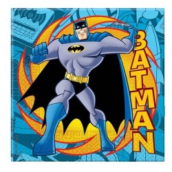 20 serviettes en papier Batman Comics