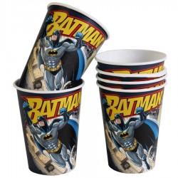 6 gobelets carton Batman