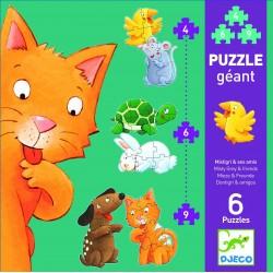 Puzzle géant Mistigri et ses amis 4-6-9 pcs