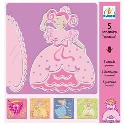 5 Pochoirs les Princesses - Djeco