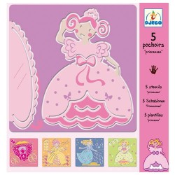 5 Pochoirs - Les princesses