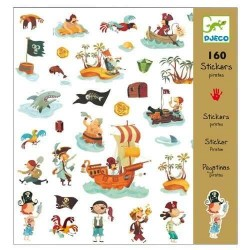 160 Stickers Pirates
