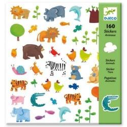 160 Stickers Animaux - Djeco