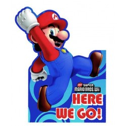 6 Invitations Mario